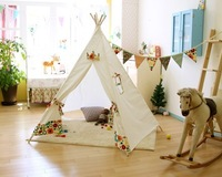 Child cloth tent 100% cotton eco-friendly game house indoor and outdoor
