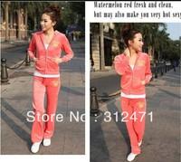 New fashion Thickening  Hot Sale Women's Velvet Tracksuits Sport Suit Leisure Hoodies & Sweatshirts Sportwear Hooded