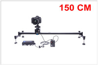 Free DHL 150CM  A type Wondlan motorized slider Wired Electrically Controlled Rail Video Slider Dolly Track