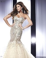 2013 New Arrival Sparkly Sweetheart Sequined Prom Dresses Mermaid Evening Dresses Long With Crystals MD198