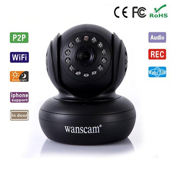 WANSCAM New PlugPlay P2P Wireless WiFi Network Webcam IP Baby Monitor Audio Pan Tilt Night Vision IR Home Security Surveillance(China (Mainland))