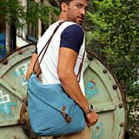 Bolsa couro Vintage casual man  handbag canvas bag fashion preppy style messenger bag