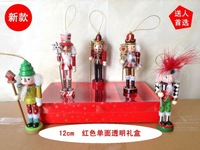 Free shipping  Home decoration colored drawing gift decoration nutcracker married birthday gift 12cm set