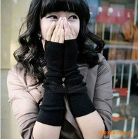25pairs/lot, 2013 autumn and winter fashion new cashmere gloves  wild long warm solid gloves for wrist free shipping