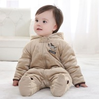 2013 children's clothing winter baby clothes winter romper baby thickening thermal newborn bodysuit romper