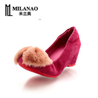 2013 autumn and winter the trend of fashion wedges single shoes female casual solid color sweet elevator shoes female