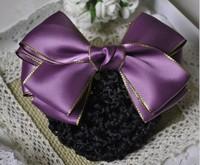Quality handmade hair bow net bag maker hairpin hair accessory clip