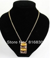 2013 Brand NEW Free Shipping Facet Bling Leopard Rhinestone Pendant Choker Chunky Women Necklace Christmas Gift