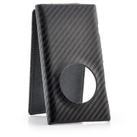 Luxury FLIP CARBON FIBER SKIN HARD LEATHER STYLE CASE COVER FOR Nokia Lumia 1020
