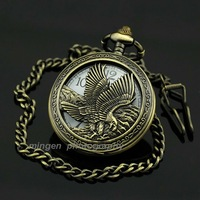 Fashion gift Quartz Antique Luxury necklace Pocket watch White Dial Eagle S190 watch wholesale