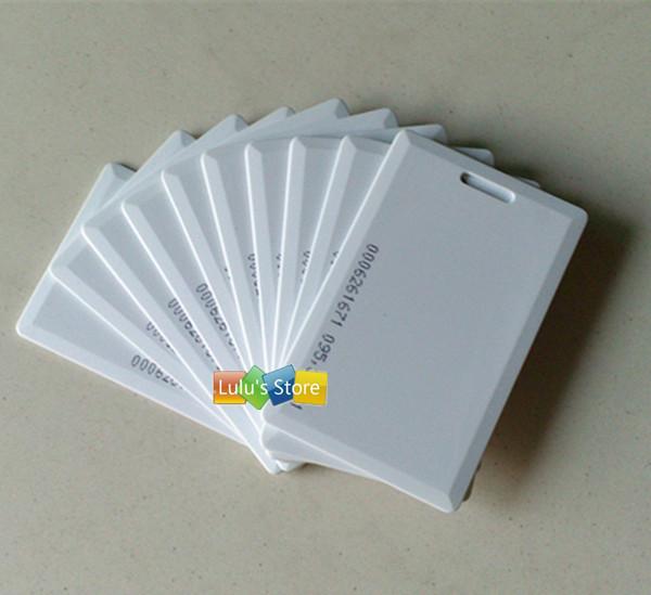 produto 100pcs/lot  EM4100 125Khz RFID proximity clamshell cards EM thick ID card