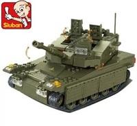 Sluban M38-B0305 344pcs 3D construction eductional plastic Building Blocks Sets Military Army Makava Tank children toys Gifts