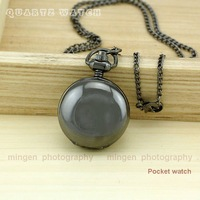 Joyce SHOP - ladies men Necklace Pendant Watch Black Color Quartz Watch Beautiful gift HCS217