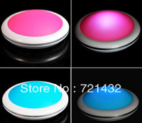 Free Post  UFO LCD English Talking Alarm Clock Thermometer   Nightlight  Concise fashion  Red and blue  White Crystal Color