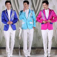 Clothes male formal dress multicolour suit married men's clothing suit