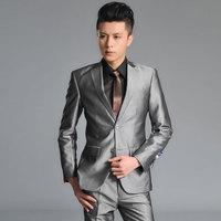 Men's clothing slim suit suits male suit set work wear suit male groom formal dress