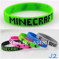 Hot Cartoon Game Minecraft 5Styles Brinquedos 100Pcs\lot Bracelets Birthday Christmas Gifts For Kids Children Free Shipping
