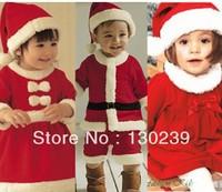 New 2013 baby winter romper clothing sets +Hat Long Sleeve newborn rompers christmas boy girl dress autumn -summer
