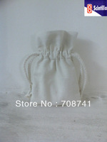 SIZE 10W X 15H(cm) ,FREE SHIPPING,100% NATURE COTTON DRAWSTRING BAG,COTTON POUCH, CUSTOM BAG AND LOGO ACCEPTABLE