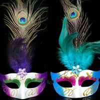 0812 peacock feather mask dance party mask Christmas halloween mask
