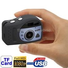 Free Shipping T7000 Black , 1080P Mini Digital Camera / Mini DV , 3.0 Mega Pixels Support TF Card Hot Sale