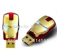 Hot Selling Free shipping+ Wholesale full capacity Genuine Iron man 4GB 8GB 16GB 32GB 64GB USB Memory Stick Flash Pen Drive Disk