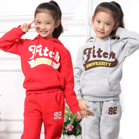Wire wire lily 2013 autumn children's clothing sweatshirt male female child casual fleece sports set child