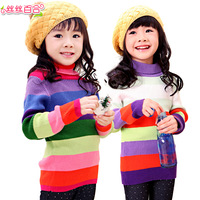 Wire wire lily children's clothing female child spring 2013 100% cotton sweater child basic shirt stripe sweater