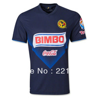 13/14 MEXICO Club America away dark blue soccer football jersey top thai quality player version soccer uniforms free ship