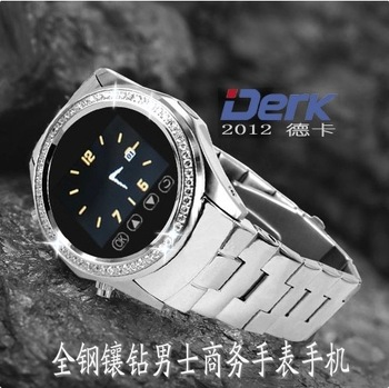 Deka 2013 mq988 Men commercial watch mobile phone crystal mp3 e-book reading