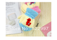 Velvet Bag Gloves warm lovely Rope Halter even refers to children's baby gloves wholesale