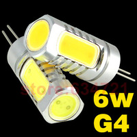 10pcs/lot DC12V G4 High Power LED Lamp Beads 6W 7.5W Bright Beads CrystalLamp Bulb Free Shipping