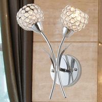 Free shipping crystal lamp Brief fashion k9 modern crystal wall lamp art lamp ofhead mirror double slider frha b61