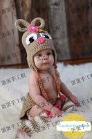 Fashion handmade crocheted flower hat cartoon child autumn and winter handmade ear protector cap cotton