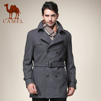 Camel men's clothing 2013 winter male woolen overcoat double breasted casual clothing outerwear