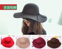 Wool hat female autumn and winter woolen large brim hat fashion fedoras fashion cap billycan