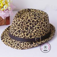 Leopard print fedoras female small fedoras jazz hat