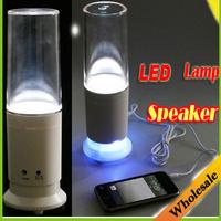 Wholesale 2 in1 USB Colorful Water-drop Touch Sensor LED Table Lamp Light Mini Vibration Speaker mp3 player led lighting