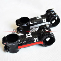 New 3T Mountain bike Alloy carbon Stem 31.8*80/90mm road bicycle stem red / silver logo