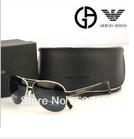 BRAND 3204 Classic polarized sunglasses, fashion metal sunglasses free shipping  with  orig box