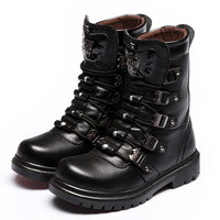 Male rivets martin boots the trend of high men's boots combat   male boots