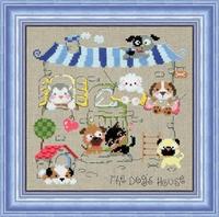 FREE SHIPPING +HOT SALES+ Dmc spiraea cross stitch dog cartoon so-3134 linen cloth
