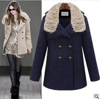 2014 New Hot Sale Fashion European plus size Winter  thermal  Women winter  Wool Coats Free Shipping