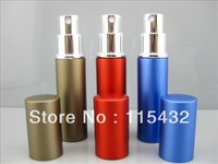 Wholesale  Refillable Atomizers Travel Perfume Bottles Spray Makeup Aftershave Colorful Metal Bottle 5ML DHL Free Ship PB020