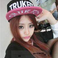 Hiphop cap baseball cap female HARAJUKU flat-brimmed hat hiphop hip-hop hat flat brim cap male summer
