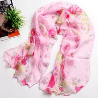 Chiffon georgette print silk scarf magicaf silk scarf female scarf bandanas belt package decoration 3