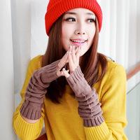 Winter fashion lengthen 2013 yarn gloves half finger knitted gloves