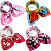 Scarf quality small facecloth silk scarf silk scarf bandanas chromophous c