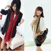 2013 autumn and winter georgette chiffon polka dot print silk scarf female polka dot scarf