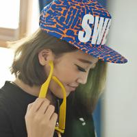 Fashion neon color sweet flat brim cap the trend of baseball cap hiphop cap hip-hop cap female